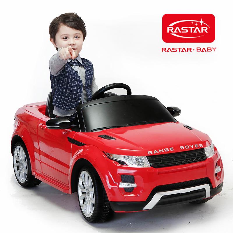 RASTAR/星辉 路虎儿童四轮电动童车 可坐遥控车带刹车12V,双电机81400.05 颜色随机