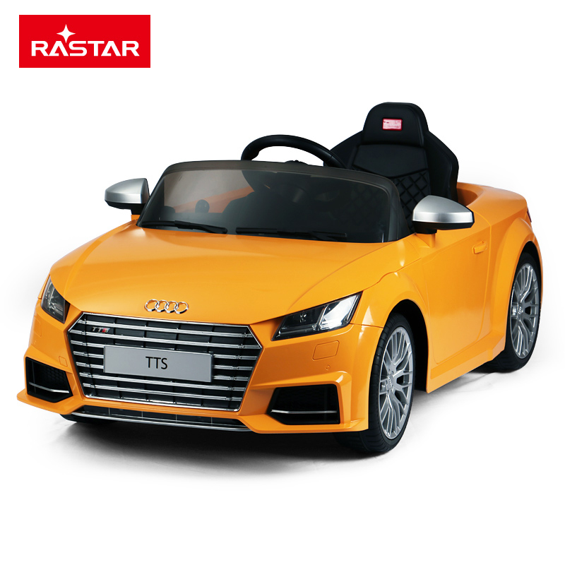 RASTAR/星辉 奥迪TTS儿童四轮电动童车可坐人遥控汽车 带刹车2.4G 12V双电机82500魅力黄色