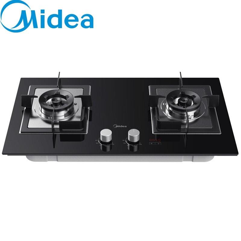 美的(Midea) 智能定时燃气灶大火力嵌入式台双灶具天然气液化气煤气灶 一级能效JZY-Q63 Pro 液化气