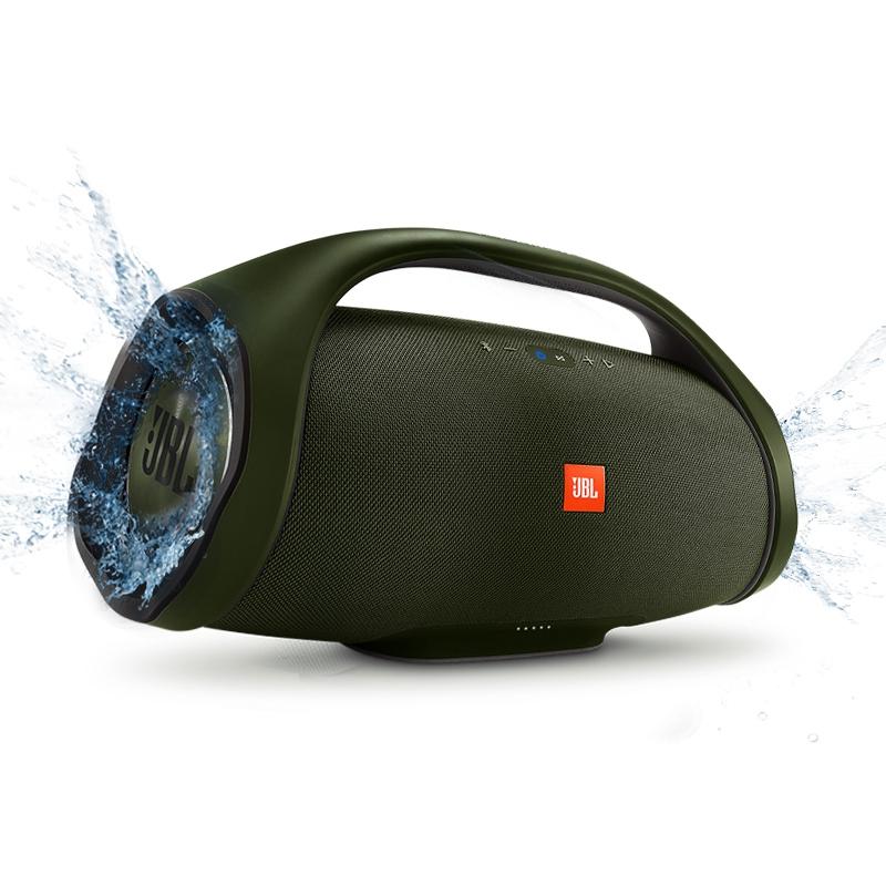 JBL BOOMBOX音乐战神无线蓝牙音箱便携迷你户外音响hifi双低音炮军绿色