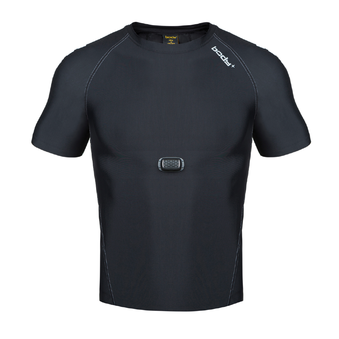 BodyPlus Aero 智能运动衣男士T恤(杜邦)套装黑/XL