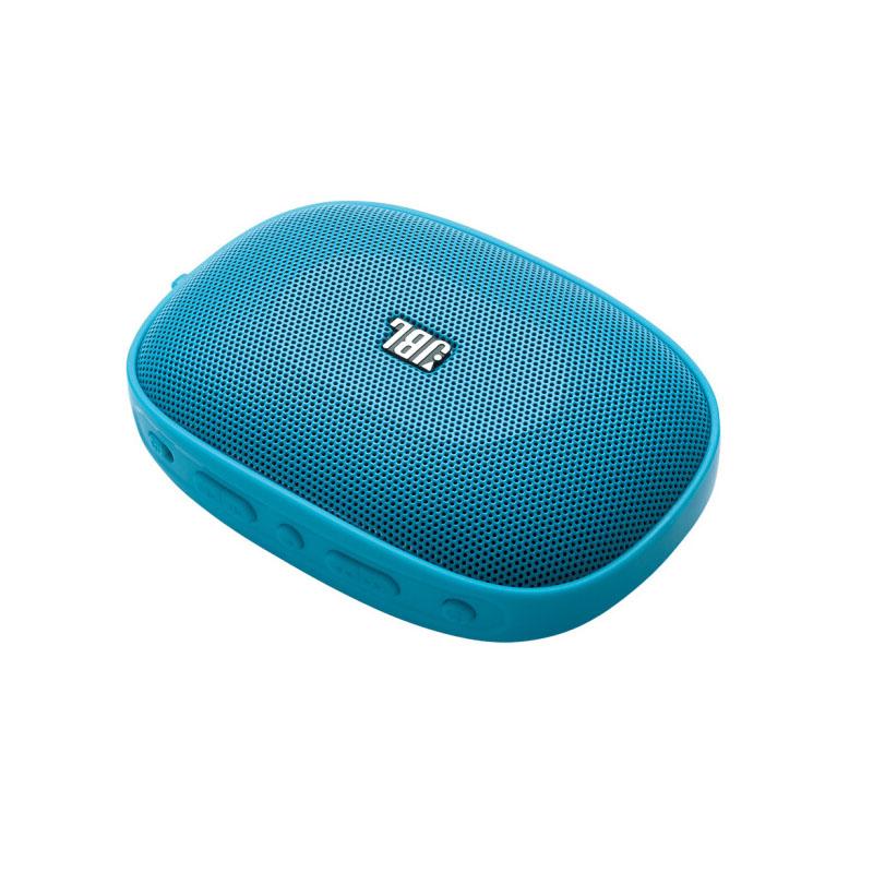 JBL SD-12 BLK无线蓝牙插卡音箱 便携迷你口袋音箱 兼容苹果/三星手机/电脑小音响 MP3播放器 FM收音机 蓝色