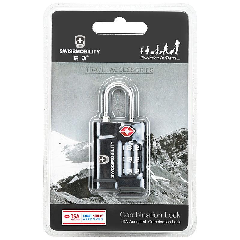 瑞动(SWISSMOBILITY)拉杆箱TSA海关密码锁PC材质行李箱包安全防盗锁MT-5658-02T00黑色