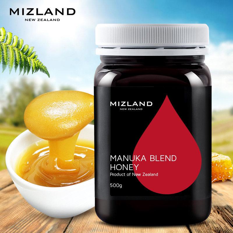 蜜滋兰新西兰原装进口忍冬麦卢卡混合蜂蜜500g