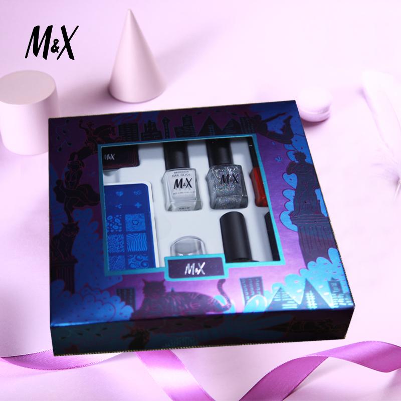 M&X指甲油多姿12ml*5色印象指釉礼盒