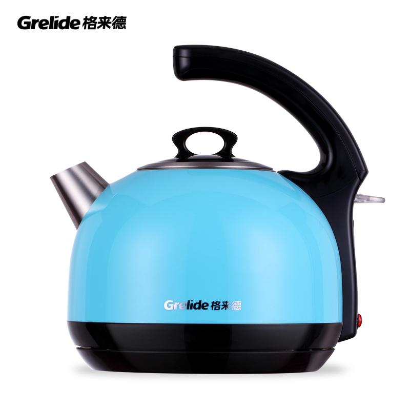格来德(Grelide)时尚大壶保温开关电热水壶D1215K      蓝色  1.5L