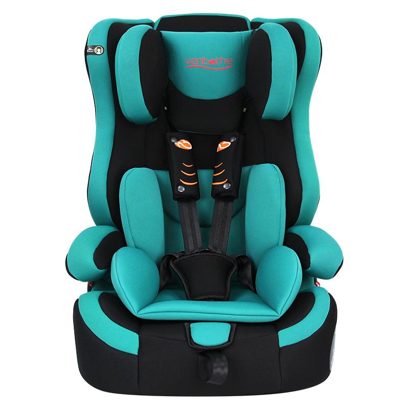 文博仕兒童安全座椅汽車用 9個月-12歲 嬰兒寶寶車載安全座椅 綠色