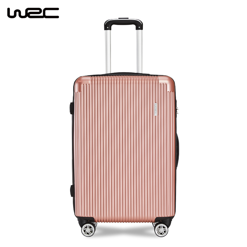 WRC拉杆箱男女登机密码箱箱商务旅游箱包W-Z60888玫瑰金24寸