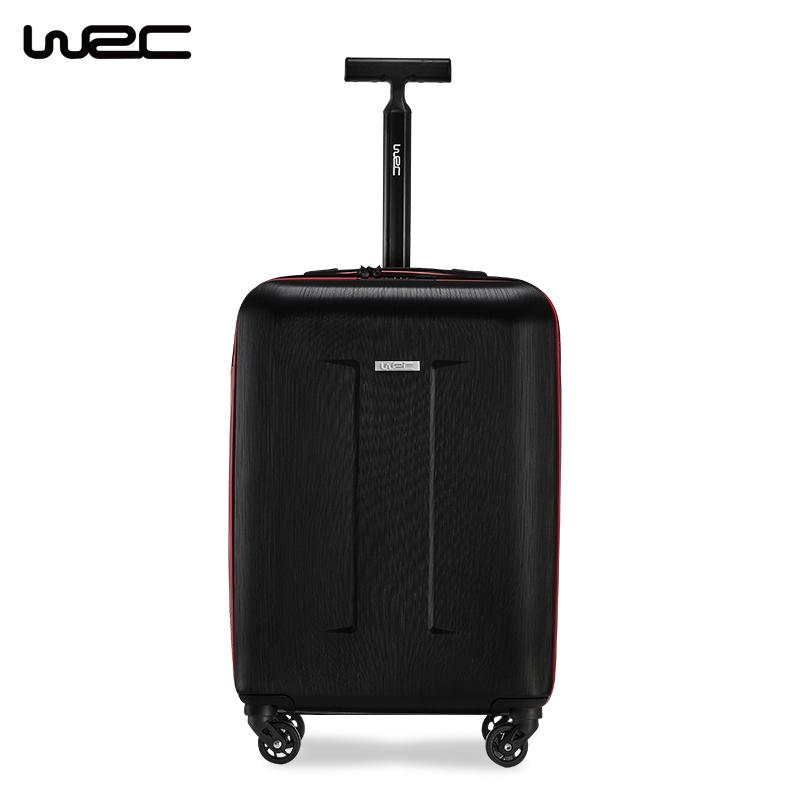 WRC行李箱男女20寸單拉桿箱飛機萬向輪箱包商務旅行箱W-M002暗夜黑20寸