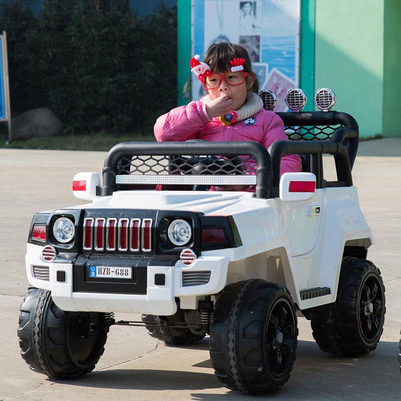 孩智堡儿童玩具汽车HZB-688-抛光白色两驱款