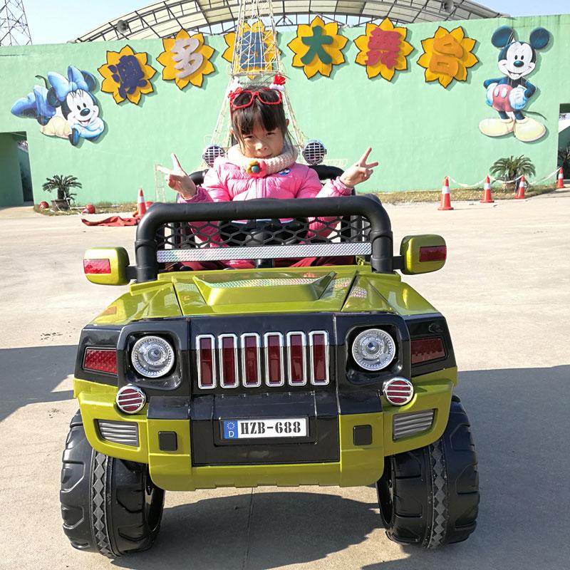 孩智堡儿童玩具汽车HZB-688-抛光绿色两驱款