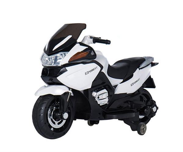 孩智堡儿童玩具摩托车HZB-118-抛光白色两驱款