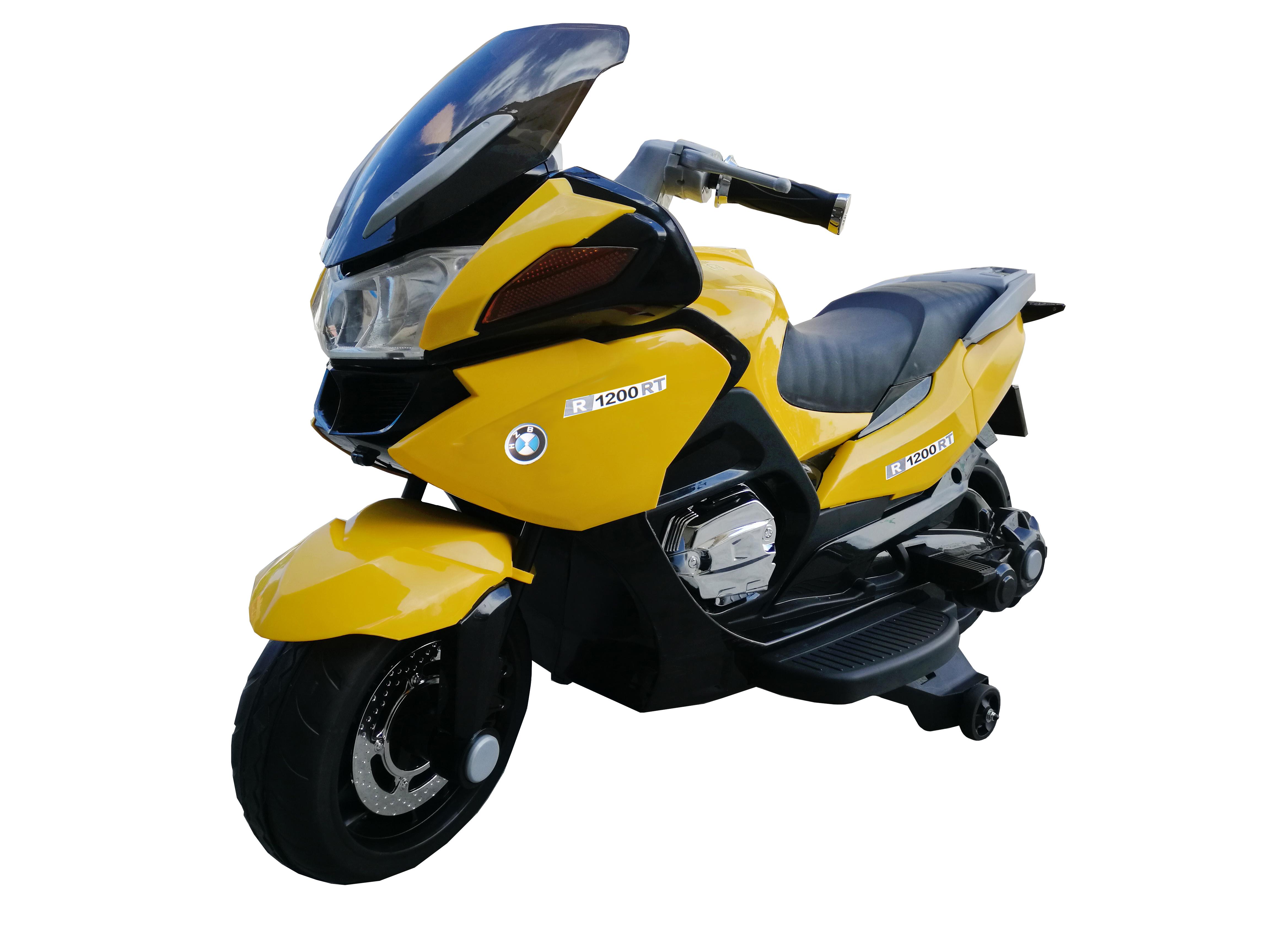 孩智堡儿童玩具摩托车HZB-118-抛光黄色两驱款