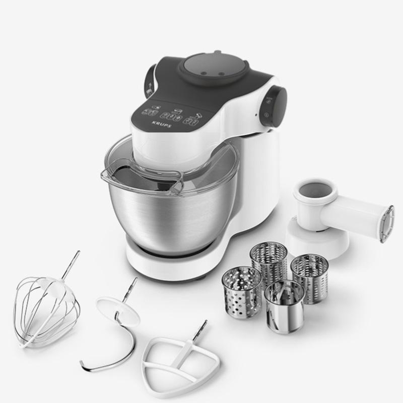 krups KA252180廚師機多功能和面機家用小型揉面機全自動攪拌機