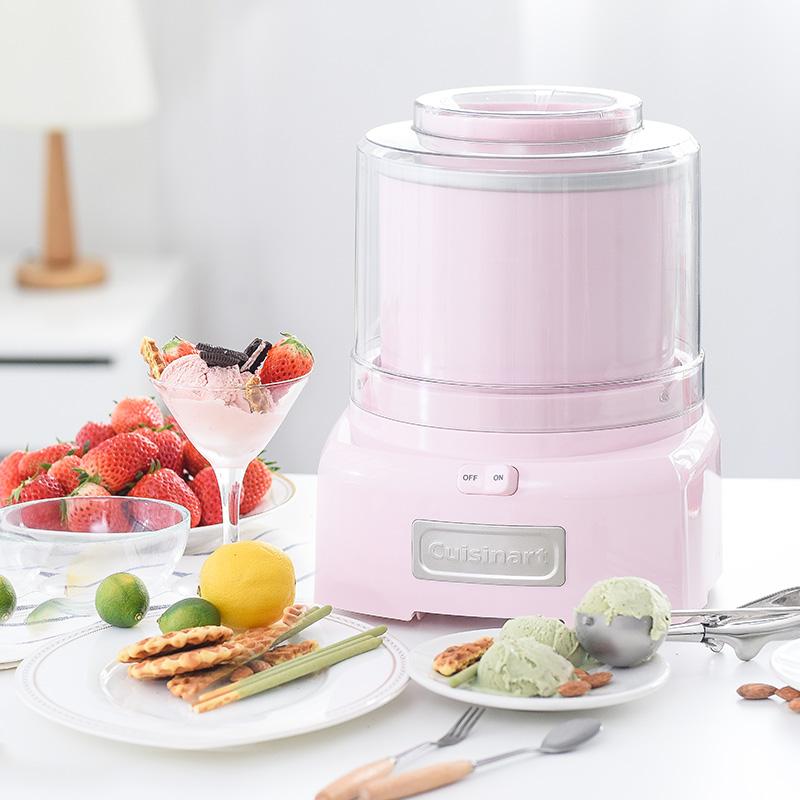 Cuisinart/美膳雅 DIY冰凍酸奶 冰淇淋雪糕機ICE-21CN (pink) 粉色
