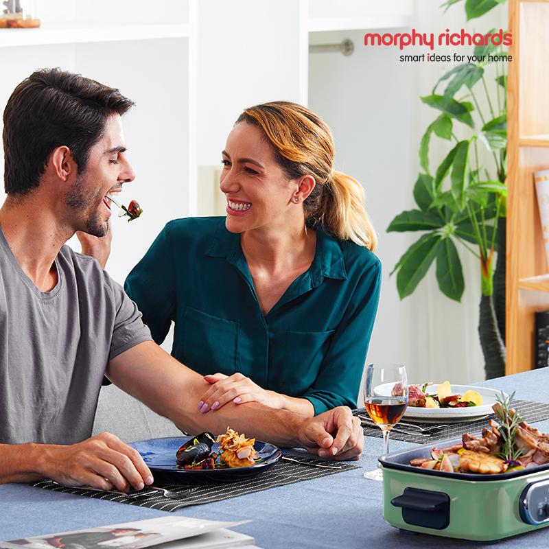 摩飞电器 多功能电烧锅MR9088 绿色-标配+平烤盘