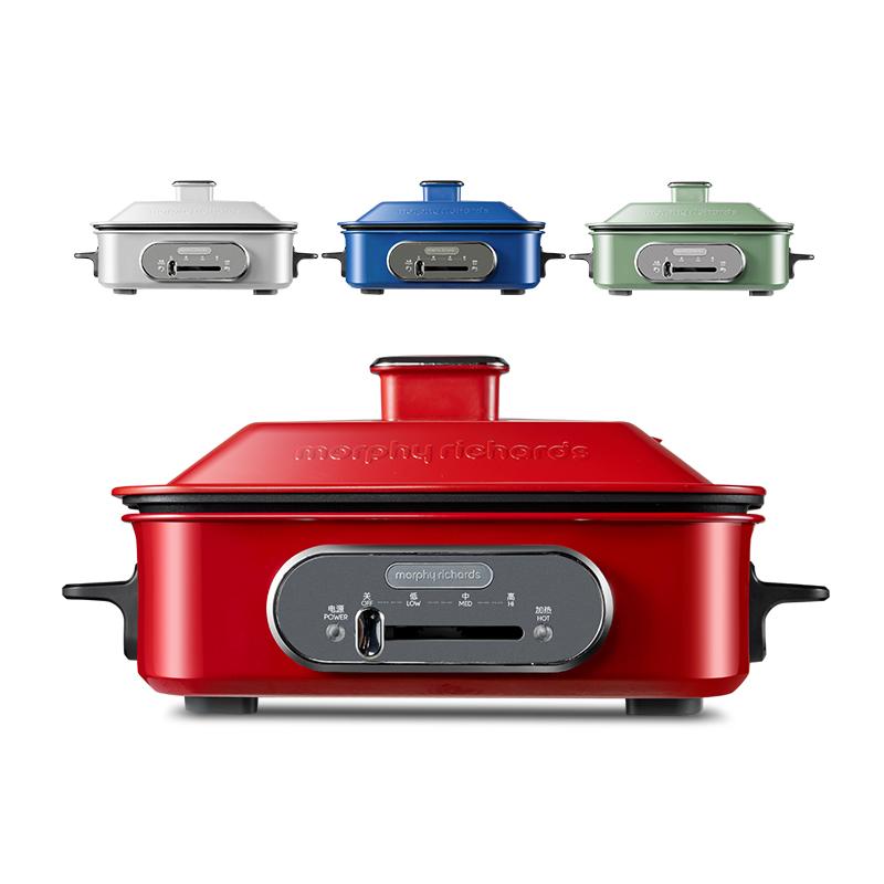 摩飛電器 多功能電燒鍋MR9088 紅色-標配+平烤盤+丸子盤