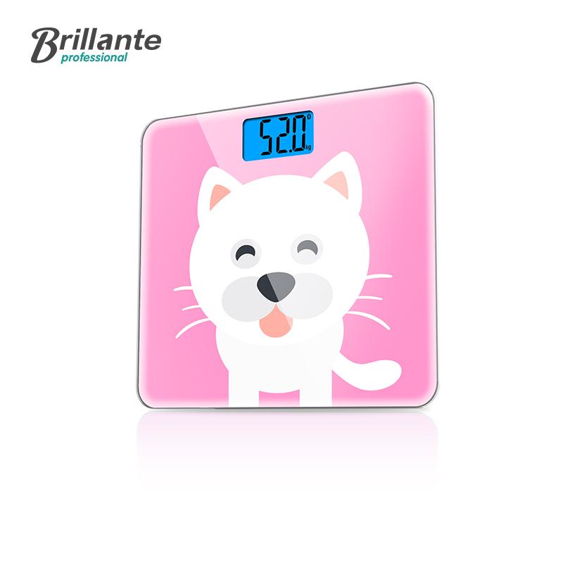 Brillante/贝立安 红粉卡通智能蓝牙电子秤健康秤BJH-C02