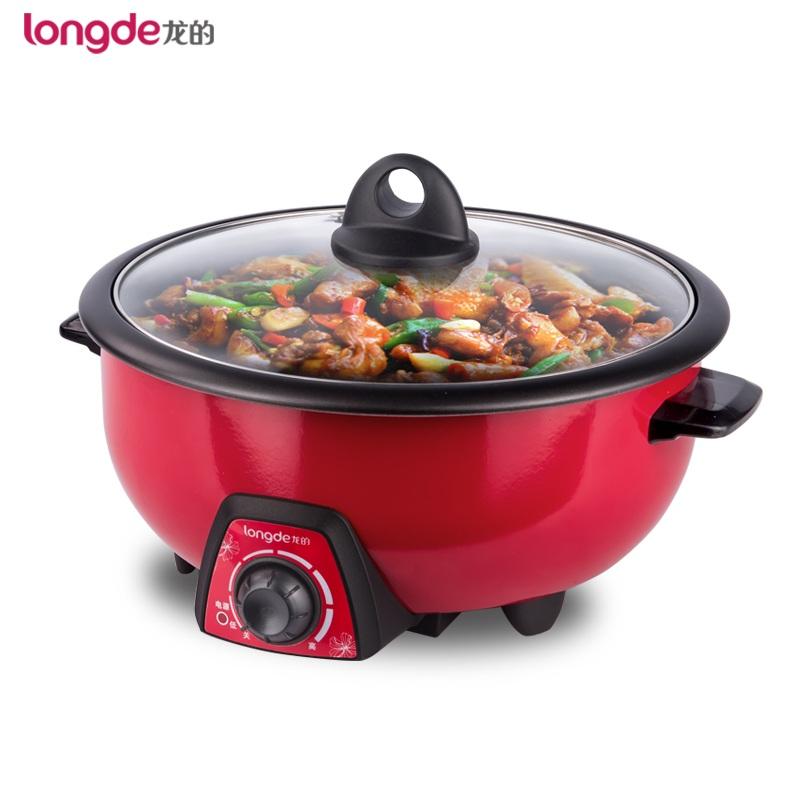Longde/龍的  LD-HG30C多功能自動電火鍋電煮鍋家用炒菜電熱鍋煎鍋3L