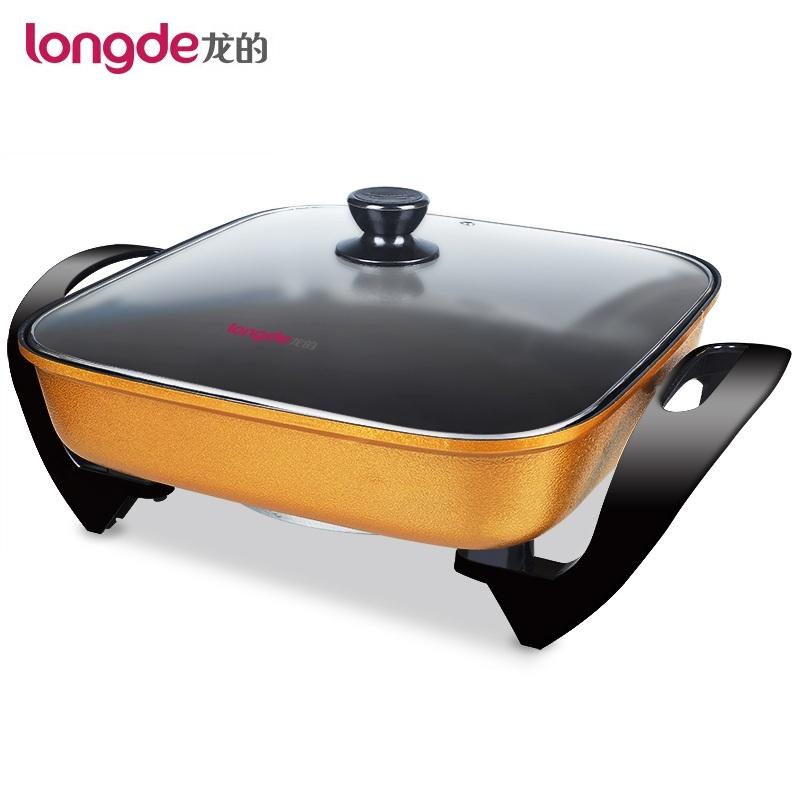 Longde/龍的 家用電火鍋多用途電煮鍋韓式一體電熱火鍋LD-HG32D金色4L