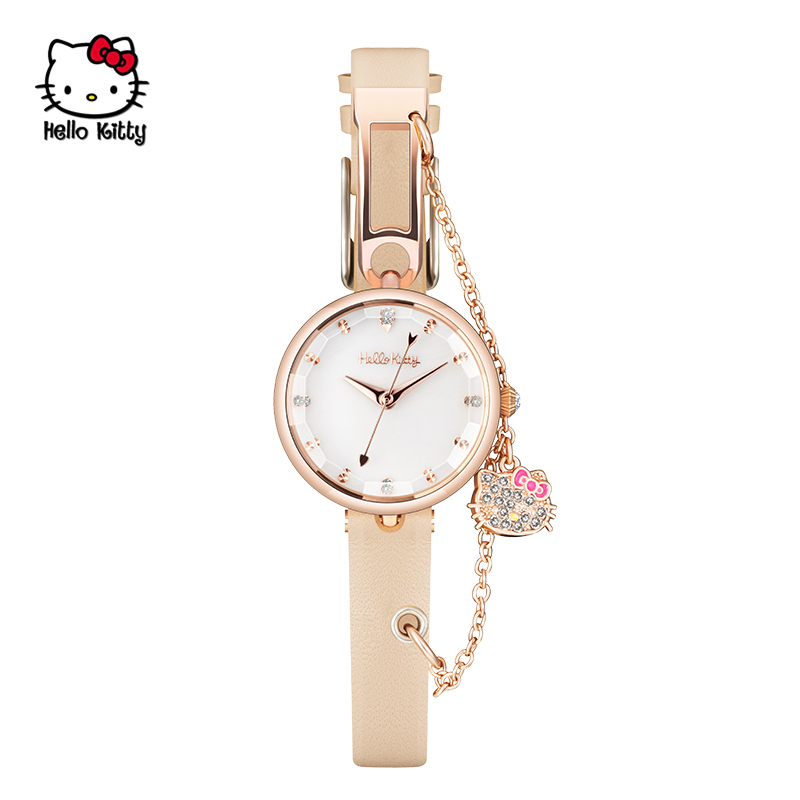 Hello Kitty18031C 玫瑰金手表天然贝壳表面