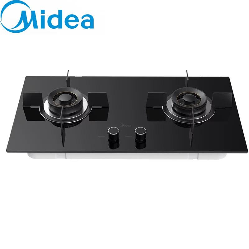 美的(Midea) 鋼化玻璃嵌入式燃氣雙灶煤氣灶  大火力5.0kw 一級能效JZT-Q80 天然氣