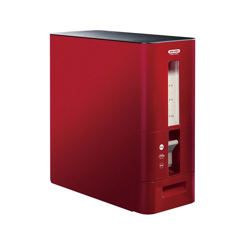 日本ASVEL阿司倍鷺 S計量米箱12千克型 紅色