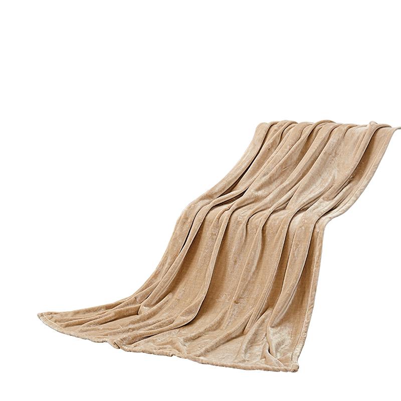 慕思 紫韻絨毯法蘭絨柔軟舒適絨床單午睡毯多用毯   QSA1-047 150cm*200cm 900g