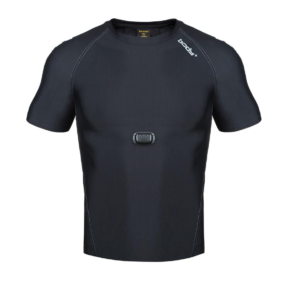 BodyPlus Aero 智能运动衣男士T恤(杜邦)套装黑/L