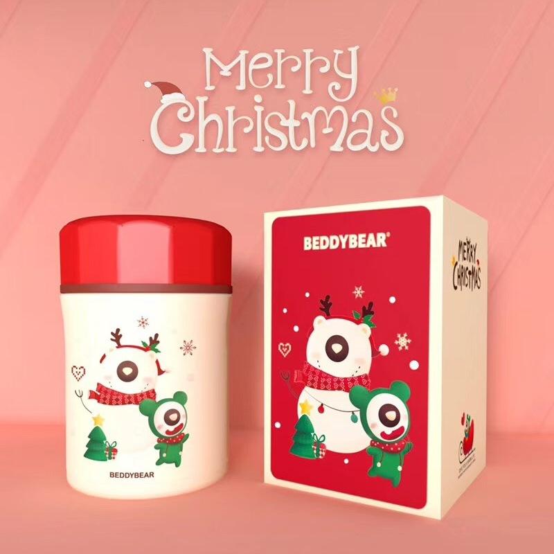 韩国杯具熊圣诞款焖烧罐雪人款500ml