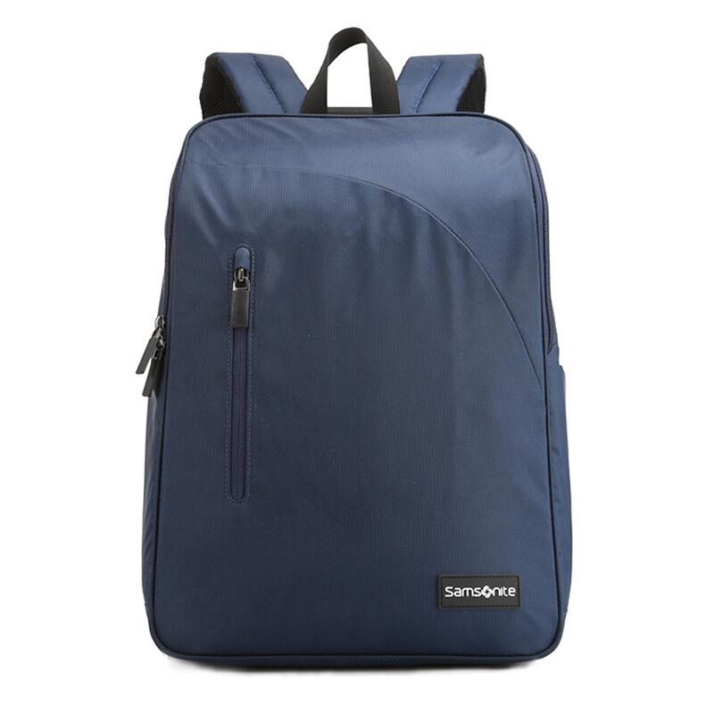 Samsonite/新秀丽双肩包2018新款时尚休闲背包超轻减负电脑包户外休闲男女背包664深蓝色