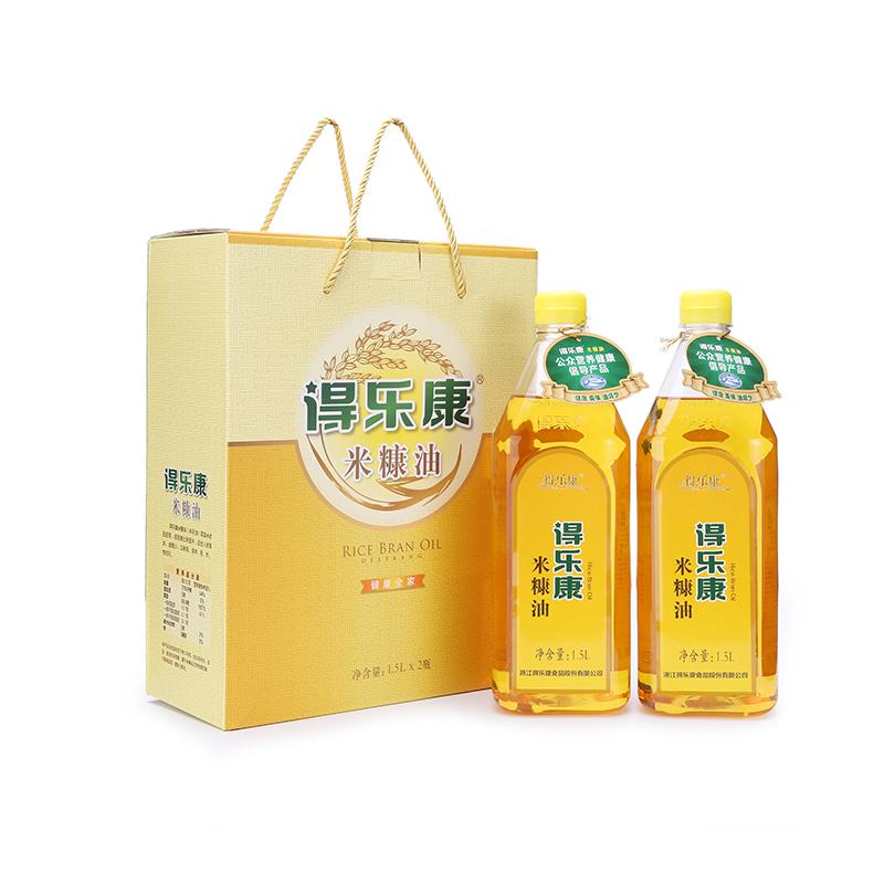 得樂康二級米糠油1.5L*2禮盒