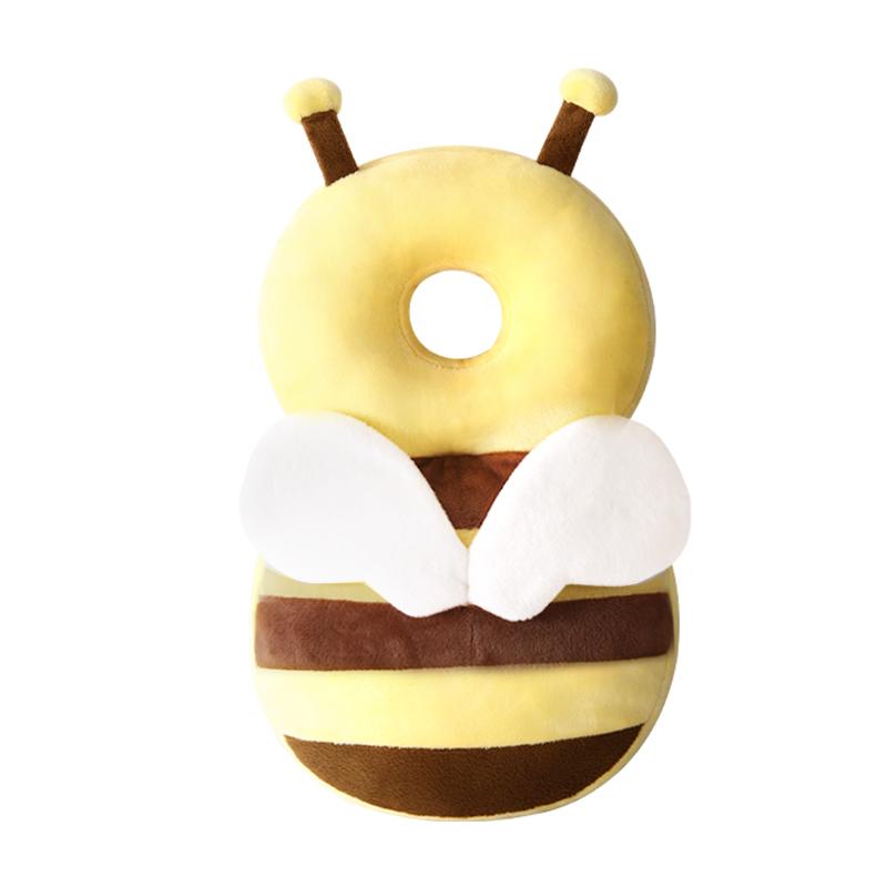 婴儿护头枕儿童学步护头帽防摔黄色小蜜蜂款