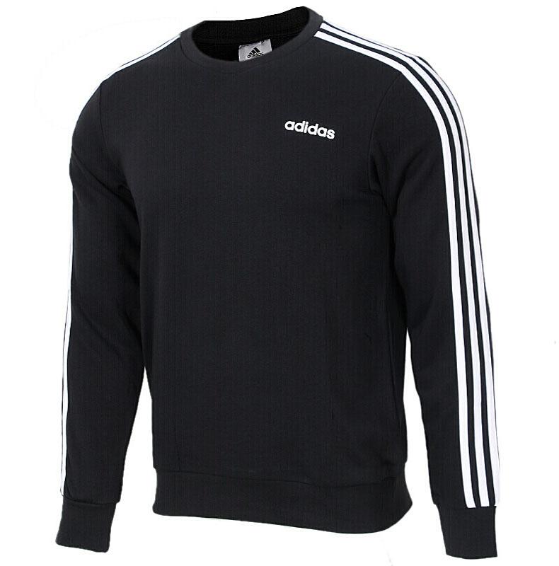阿迪达斯外套男装2019春季新款运动长袖T恤保暖卫衣套头衫 DQ3083