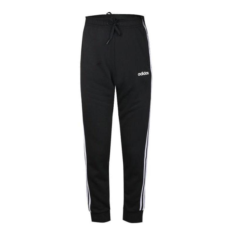 阿迪达斯男裤2019春季新款运动三条纹小脚针织长裤 DU0468