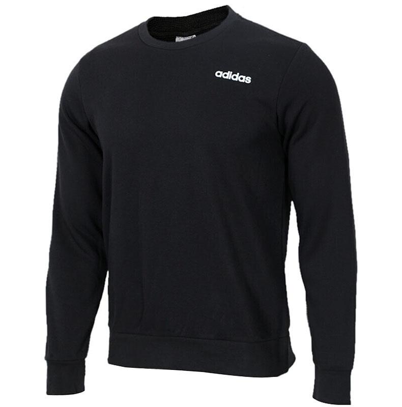 阿迪达斯男装2019春季新款运动休闲保暖长袖卫衣套头衫 DU0395