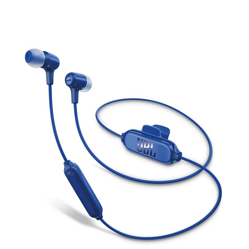 JBL E25BT入耳式耳機無線藍牙耳機 運動耳機 音樂耳機 蘋果安卓通用藍色