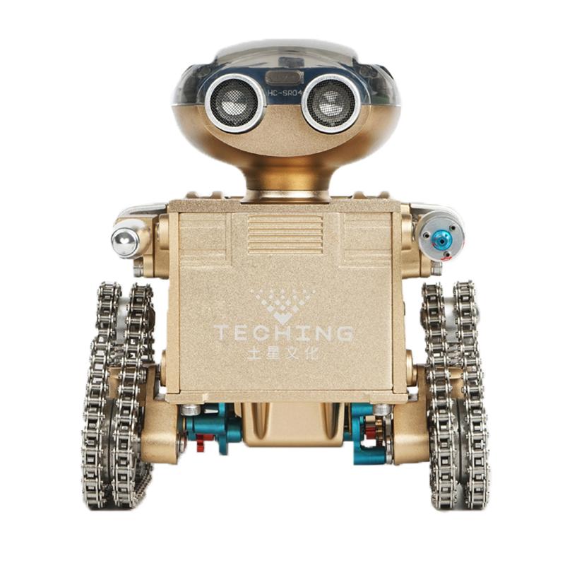 土星工匠师开拓者机器人3D金属拼装拼插模型手机遥控智能合金机械组装大人玩具DM19-B 开拓者1号