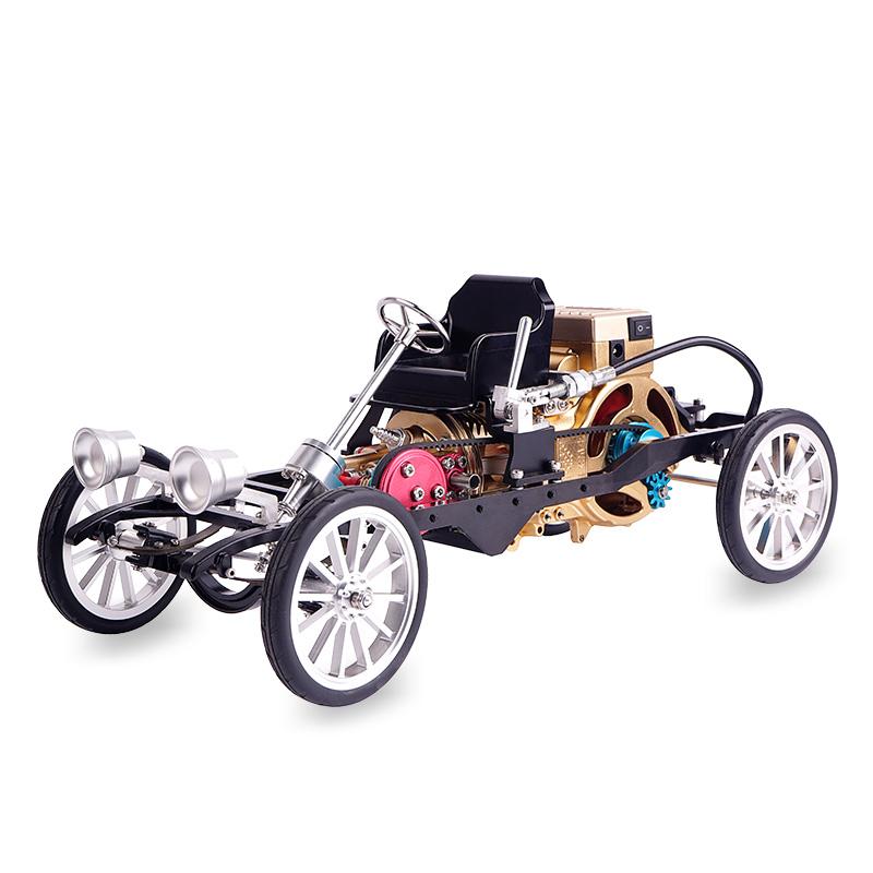 ?#21015;?#24037;匠师初代卧式内燃发动机汽车仿真3D金属拼装?#24202;?#27169;型大人玩具高难度机械组装老爷车引擎可发动DM26