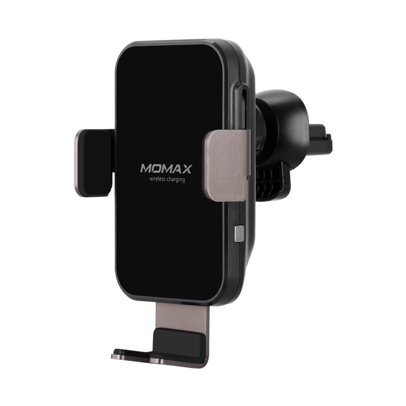 MOMAX摩?#36164;縌.MOUNT SMART智能感应无线充电车载支架套装 黑色