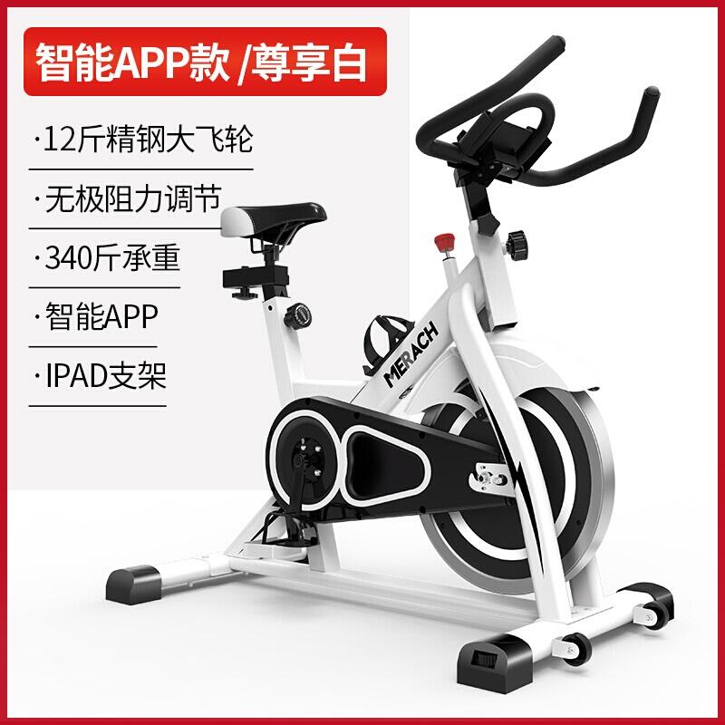 麦瑞克Merach动感单车家用健身车运动自行车室内健身器材MR-615珍珠白-乐享款