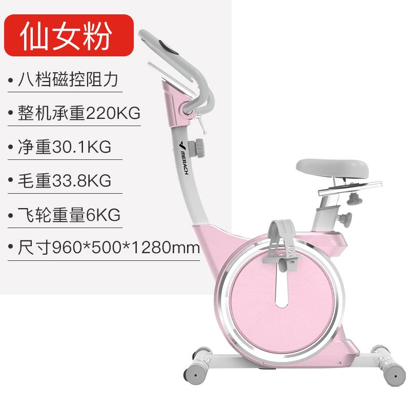 麦瑞克银月silver动感单车家用室内自行车减肥脚踏磁控静音健身车MR-636F粉色