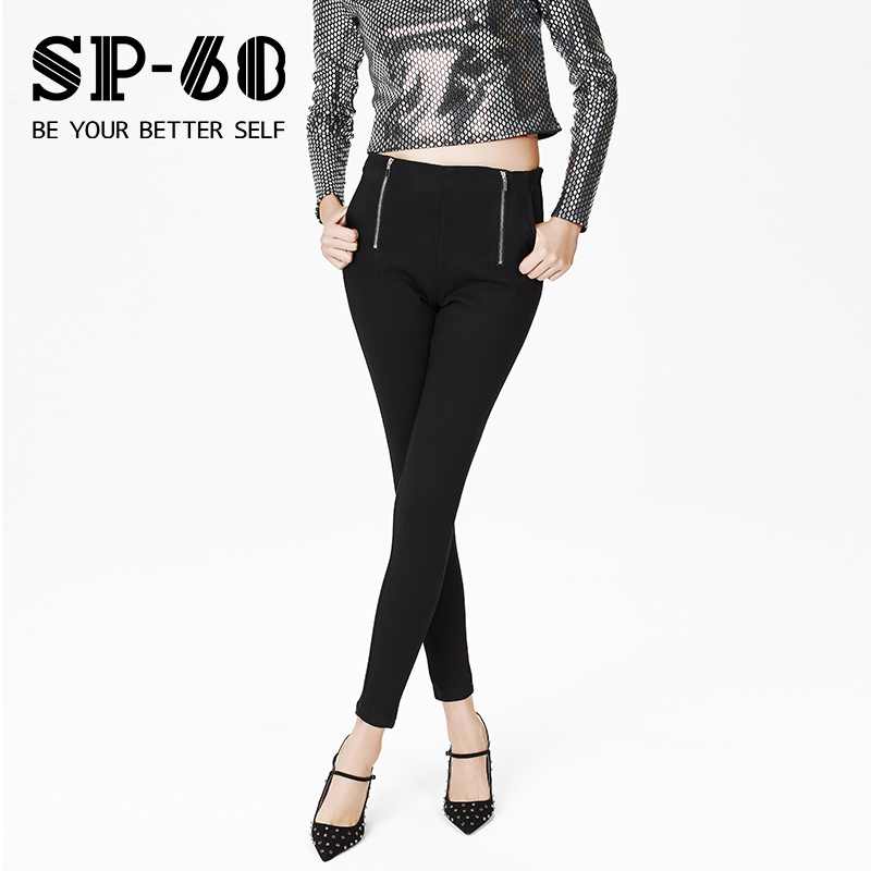 sp68魔術褲女高腰韓國2019春款顯瘦打底褲外穿黑色修身小腳褲子K-XJ074