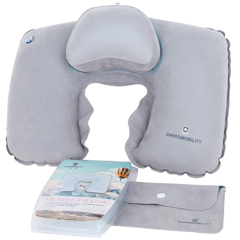 瑞動(SWISSMOBILITY)旅行充氣頭枕MT-5655-14T00冷灰色