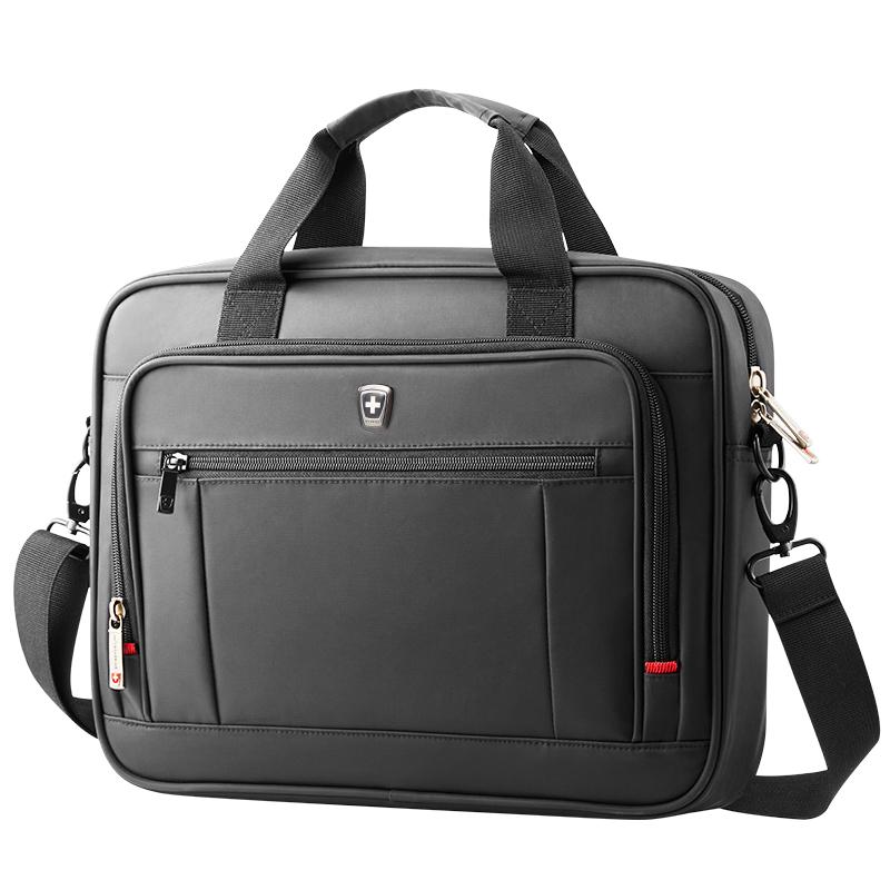瑞動(SWISSMOBILITY)斜跨電腦公文包MT-5700-02T00商務時尚休閑系列14.1英寸黑色