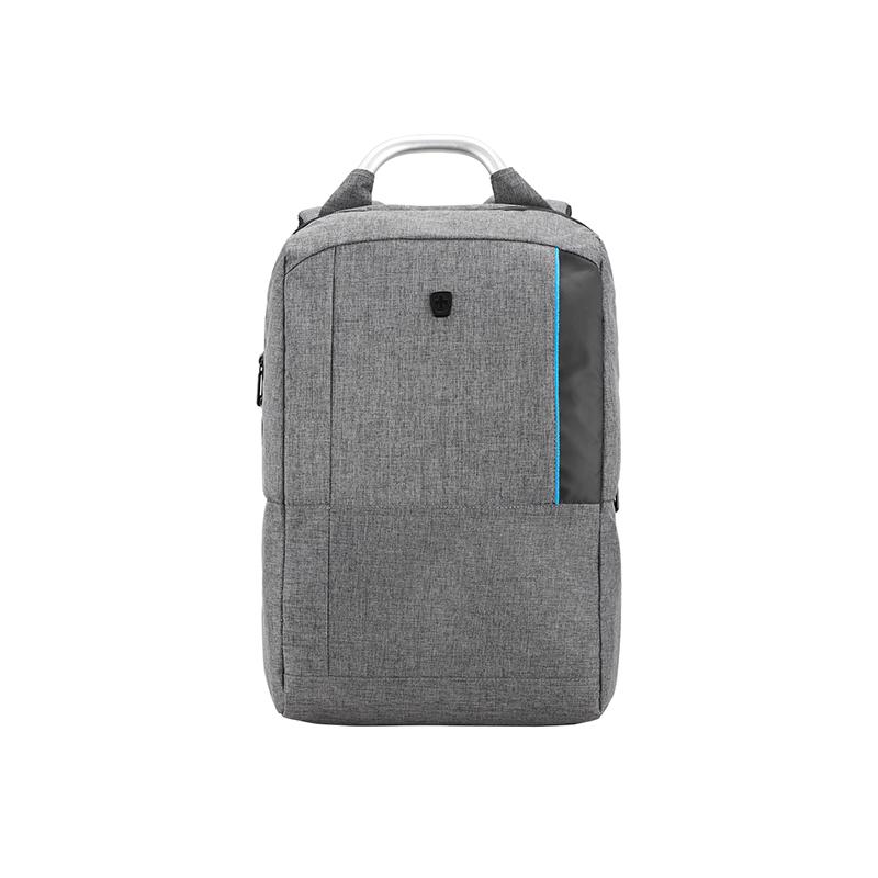 瑞动(SWISSMOBILITY)休闲时尚双色麻布商务电脑背包MT-5960-14T00灰色