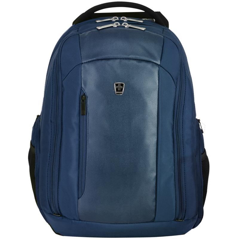 瑞动(SWISSMOBILITY)时尚商务休闲15英寸电脑背包系列MT-5718双肩包书包 蓝色