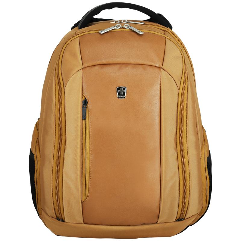 瑞動(SWISSMOBILITY)時尚商務休閑15英寸寸電腦背包系列MT-5718雙肩包書包 棕色