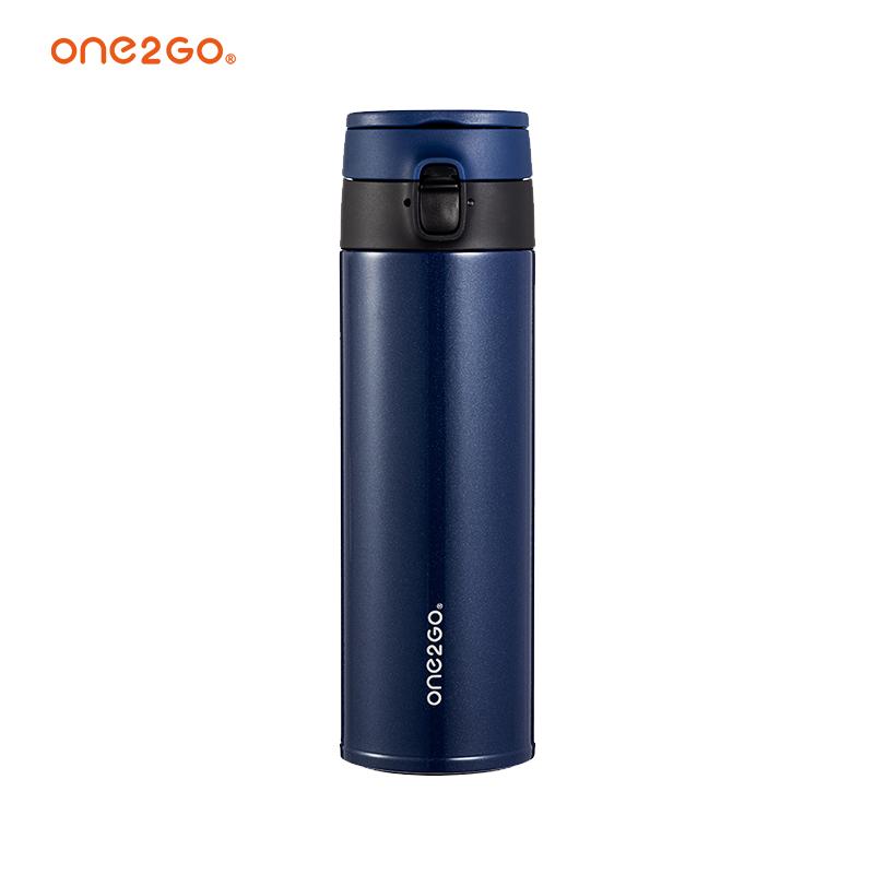 ONE2GO不銹鋼真空保溫杯輕量彈跳杯-LS4102V藍色410ml