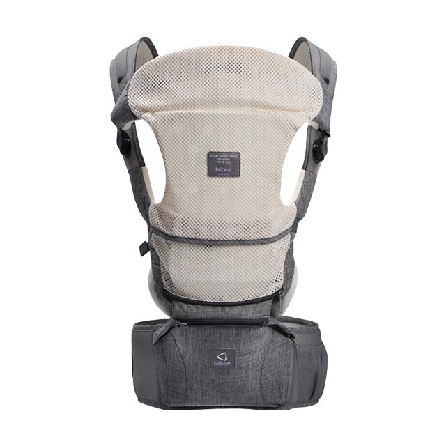 抱抱熊多功能背带腰凳0-36个月G01高级灰(透气款)